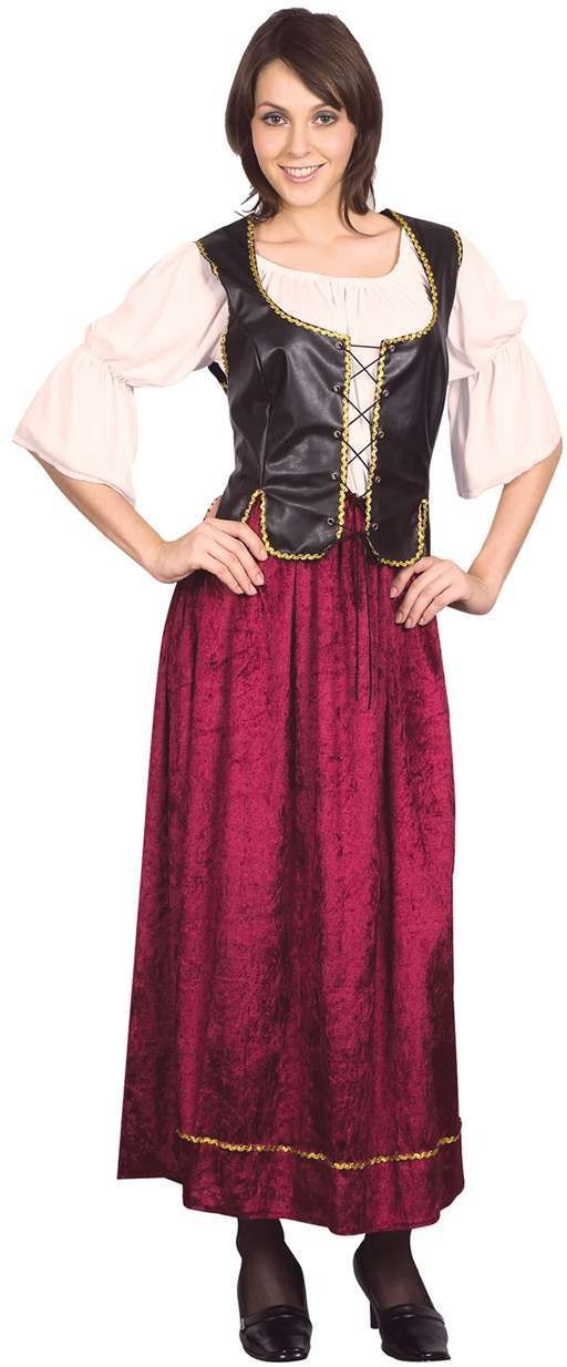 Ladies Medevial/Pirate Tavern Wench Fancy Dress Costume