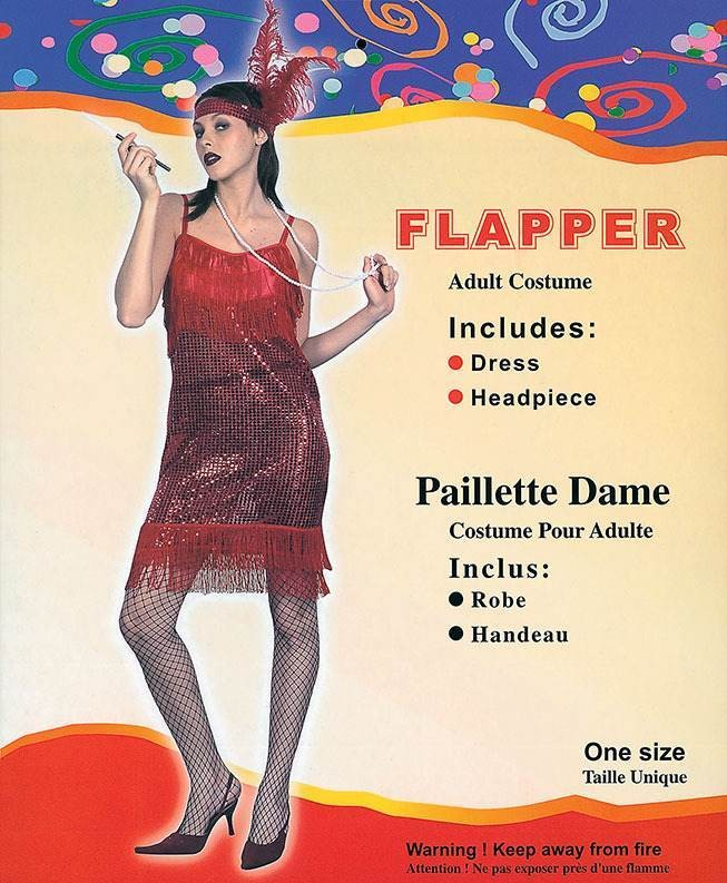 Flapper Dress. Red Sequin (Fancy Dress Costume)