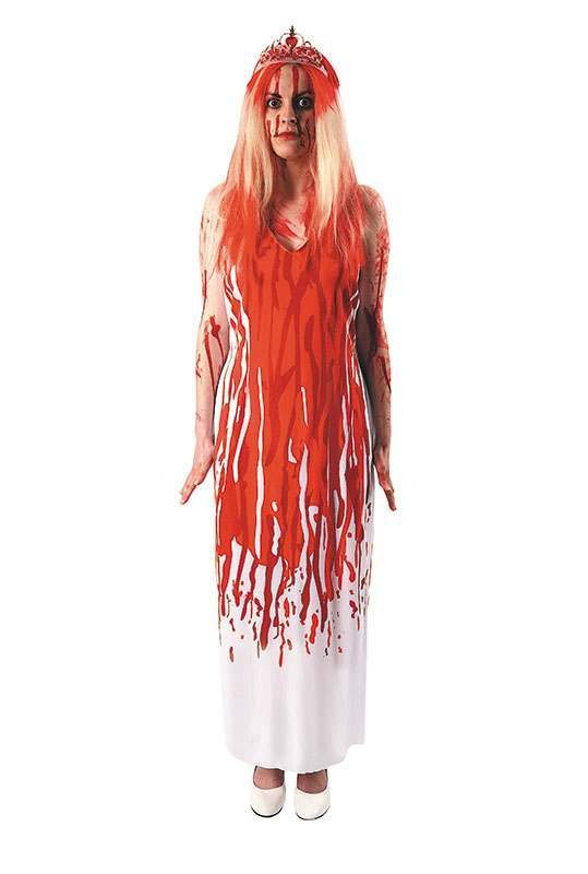 Ladies Carrie Halloween Outfit - One Size (Red,White)