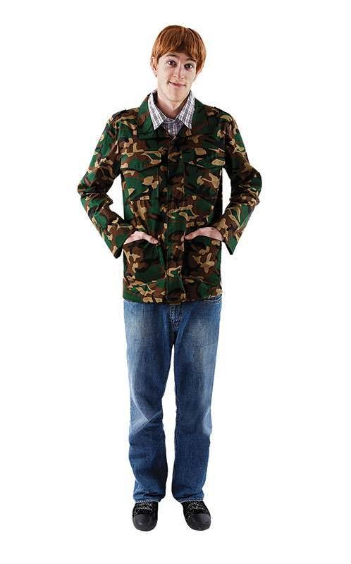 Mens Rodney Tv Outfit - One Size (Camo )