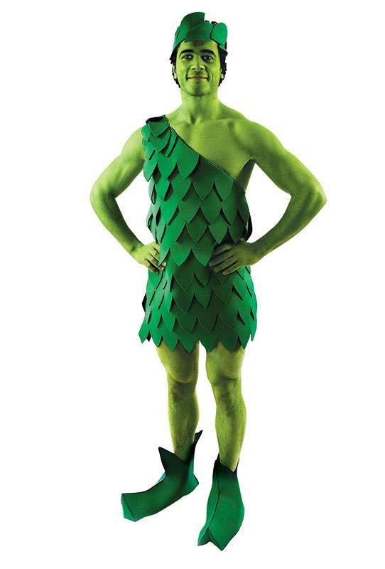 Mens Jolly Green Giant Tv Outfit - One Size (Green)