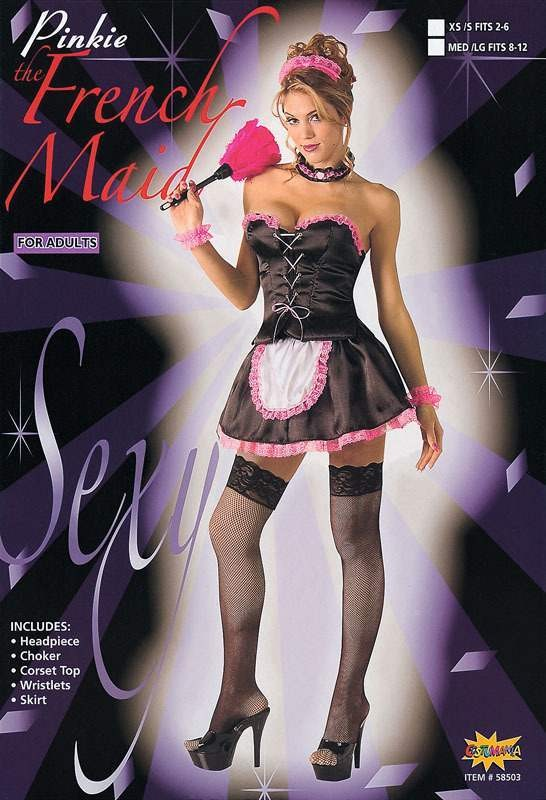 French Maid Pinkie Fancy Dress Costume