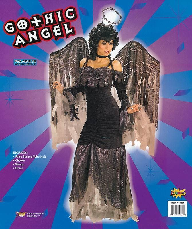 Gothic Angel Deluxe (Fancy Dress Costume)
