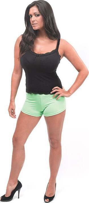 Hot Pants. Lime Green (Fancy Dress Costume)