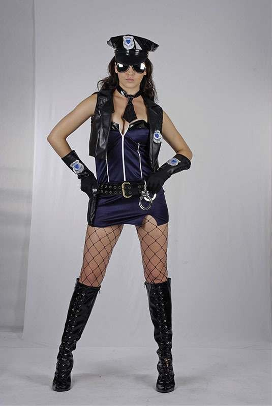 Sexy Police Lady Fancy Dress Costume