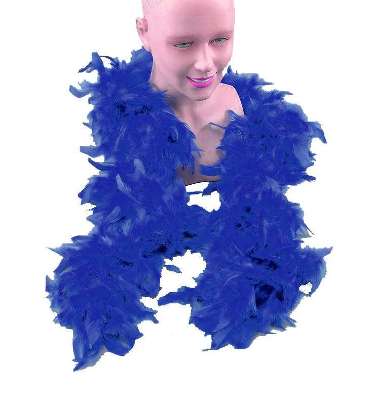 Feather Boa.Royal Blue (1920S , Burlesque Fancy Dress Feather Boas)
