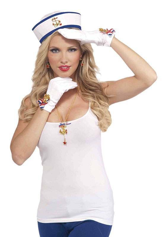 Lady In Navy Gloves Accessories