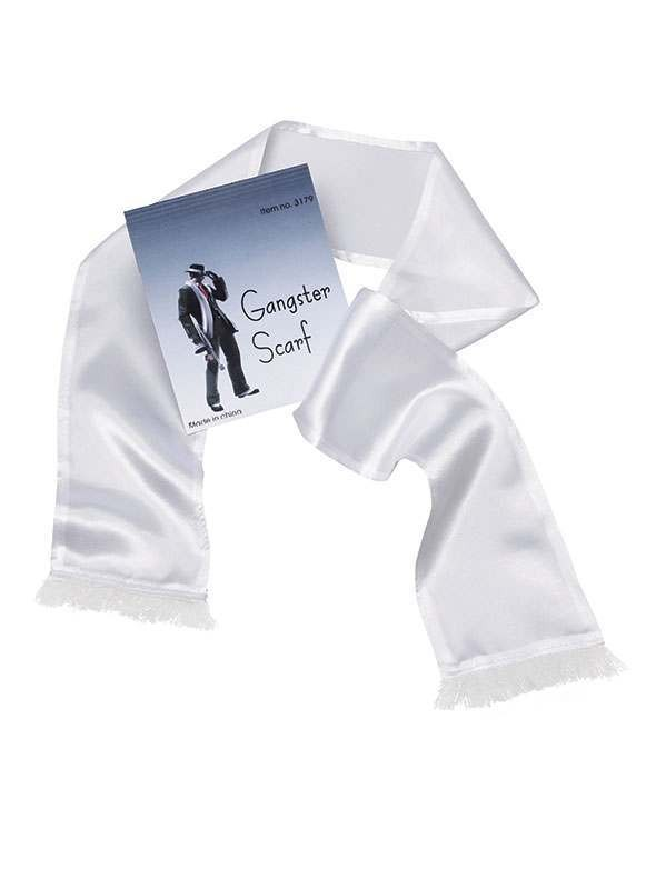 Gangster Scarf. White Accessories