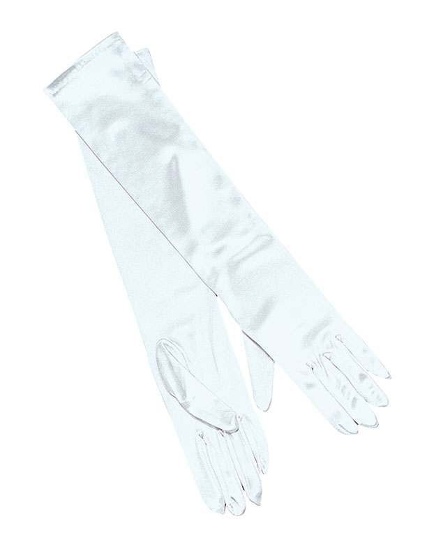 Gloves. Lame. Silver (1920S , Burlesque Fancy Dress Gloves)