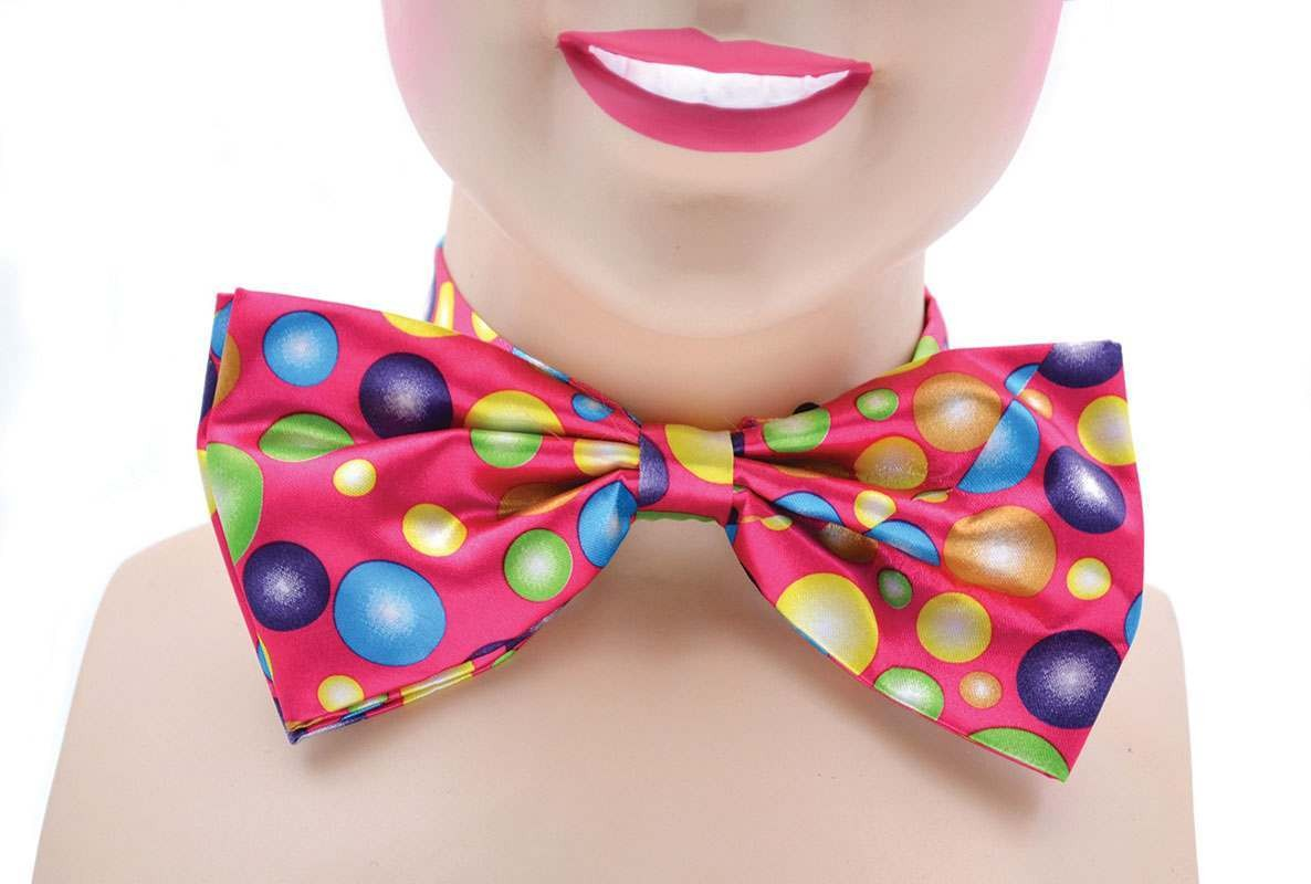 Clown Bow Tie. Pink With Spots Accessories