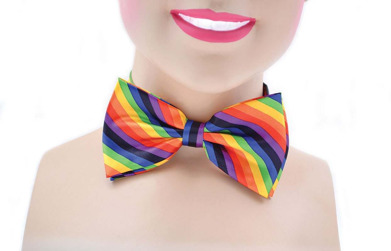 Bow Tie. Rainbow Coloured Accessories
