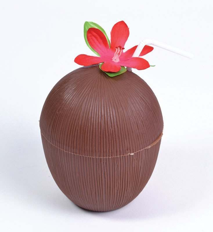 Coconut Cup. Flower + Straw Accessories