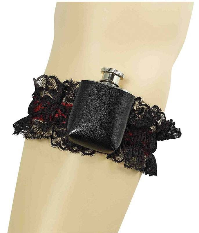 Garter With Hip Flask Accessories