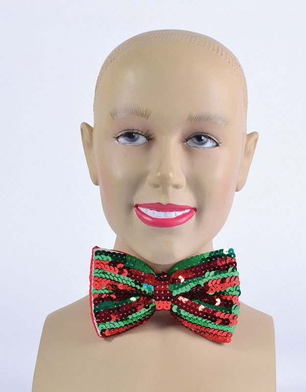 Bow Tie. Red/Green Sequin Accessories