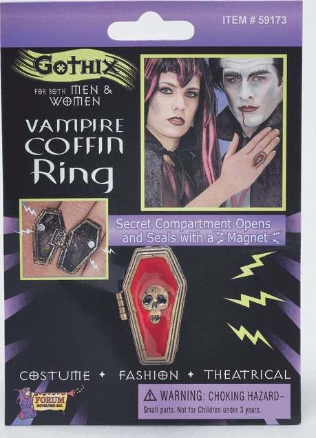Vampire Coffin Ring (Fancy Dress)