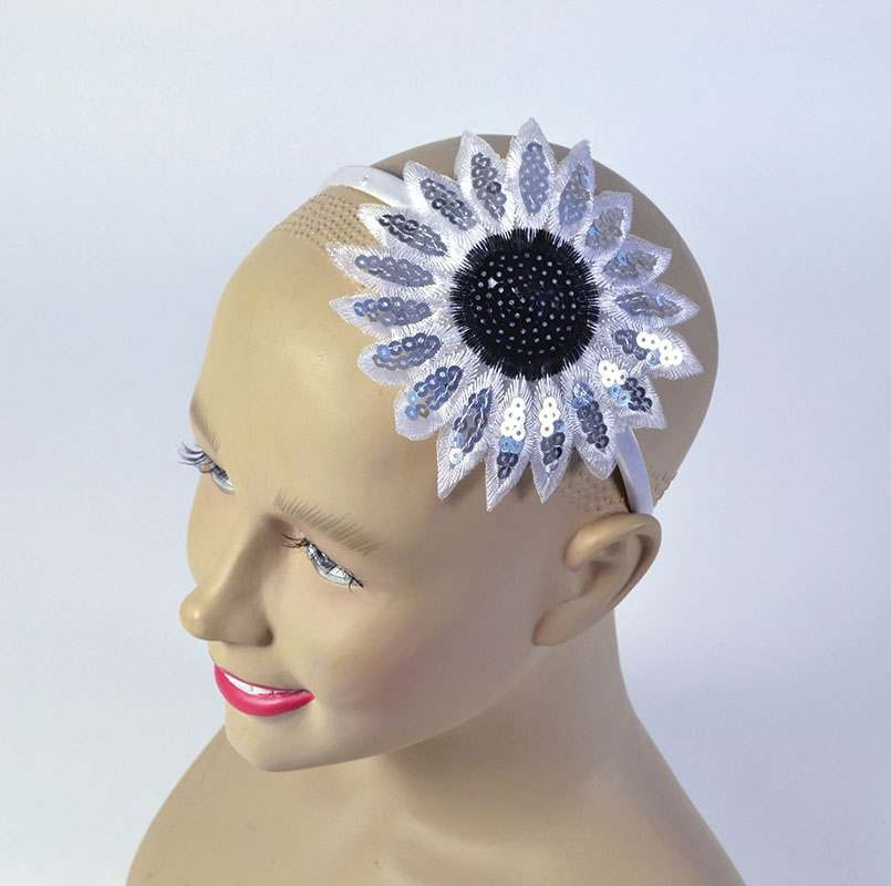 Sunflower Headband. White Accessories
