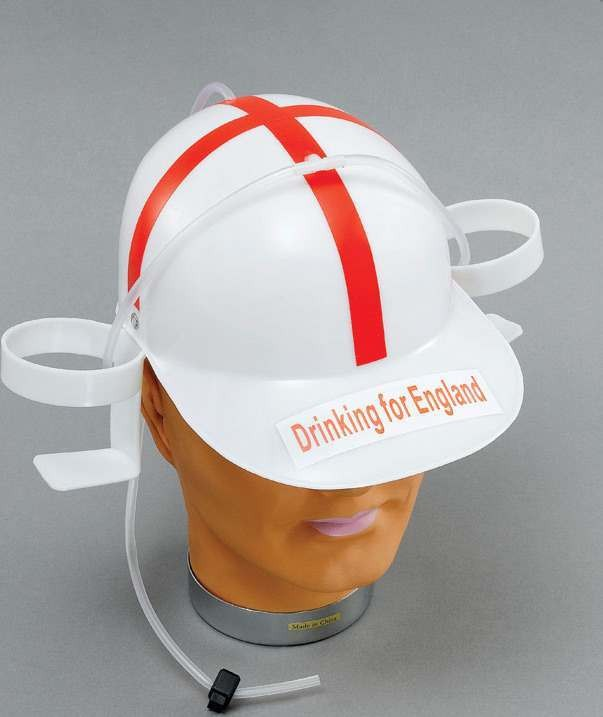 England Drinking Helmet (Fancy Dress Hats)