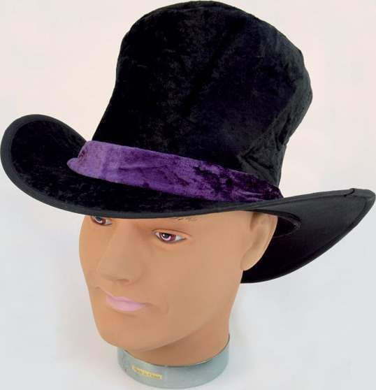 Pimp Hat. Black Velvet (Pimp Fancy Dress Hats)