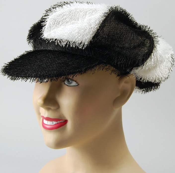 Black/White Fur Hat (Fancy Dress Hats)
