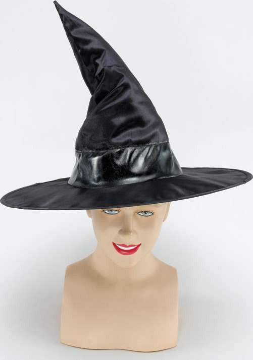 Witch Hat / Black Metallic Band (Halloween Hats)