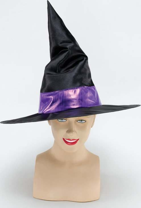 Witch Hat / Purple Metallic Band (Halloween Hats)
