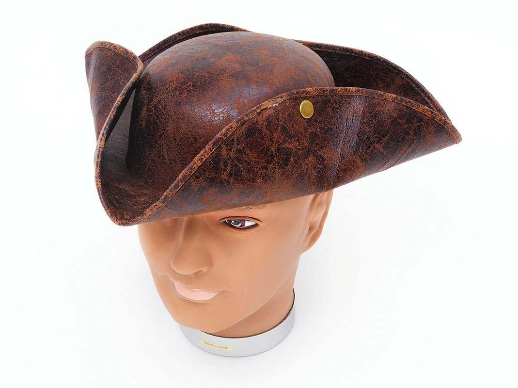 Tricorn Hat. Brown 'Ancient Look' Hats