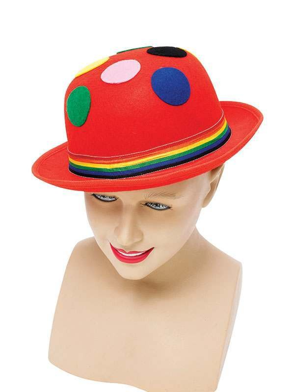 Clown Bowler (Red Spots) Hats