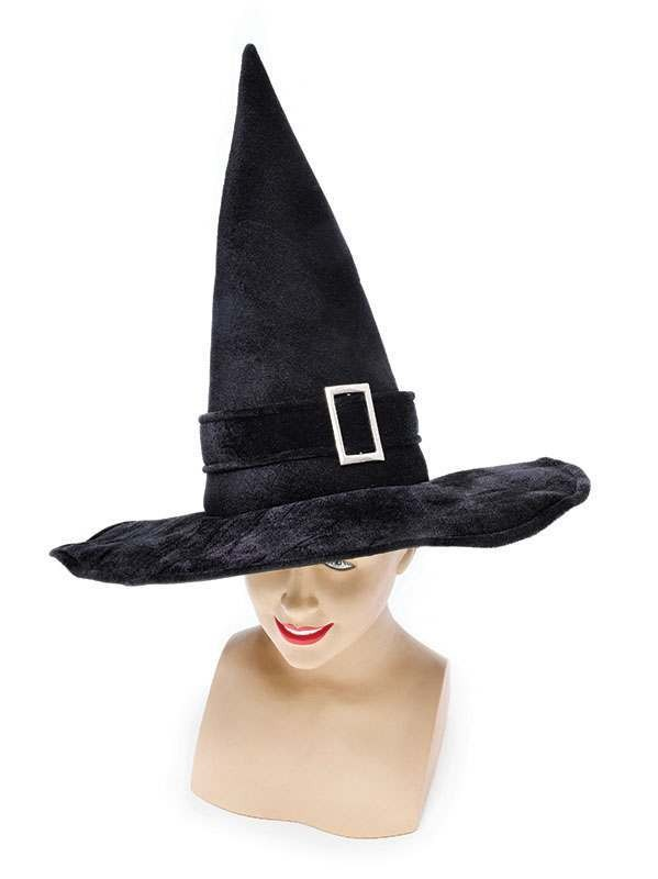 Witch Hat Black Velvet/Buckle Hats