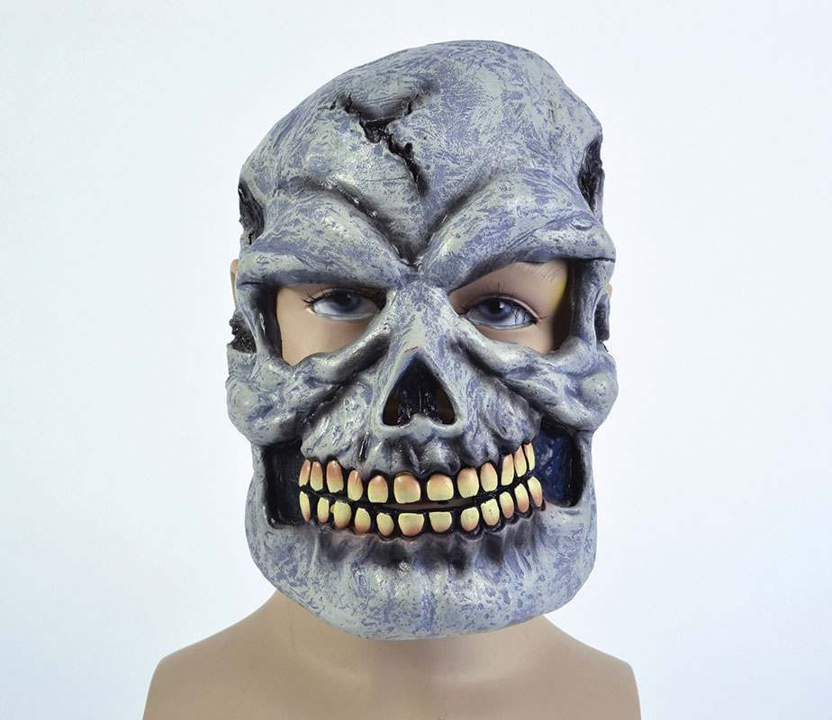 Grey Skull Pvc Full Face Masks