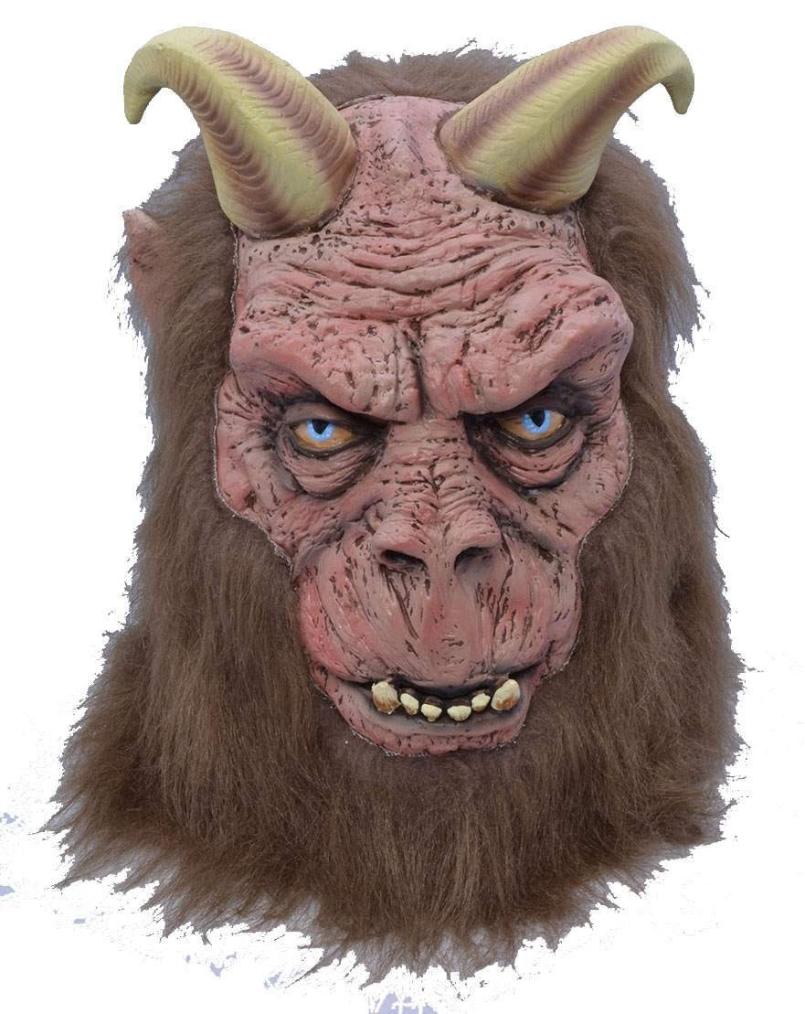 One Size Horned Beast Mask Fancy Dress Accessory