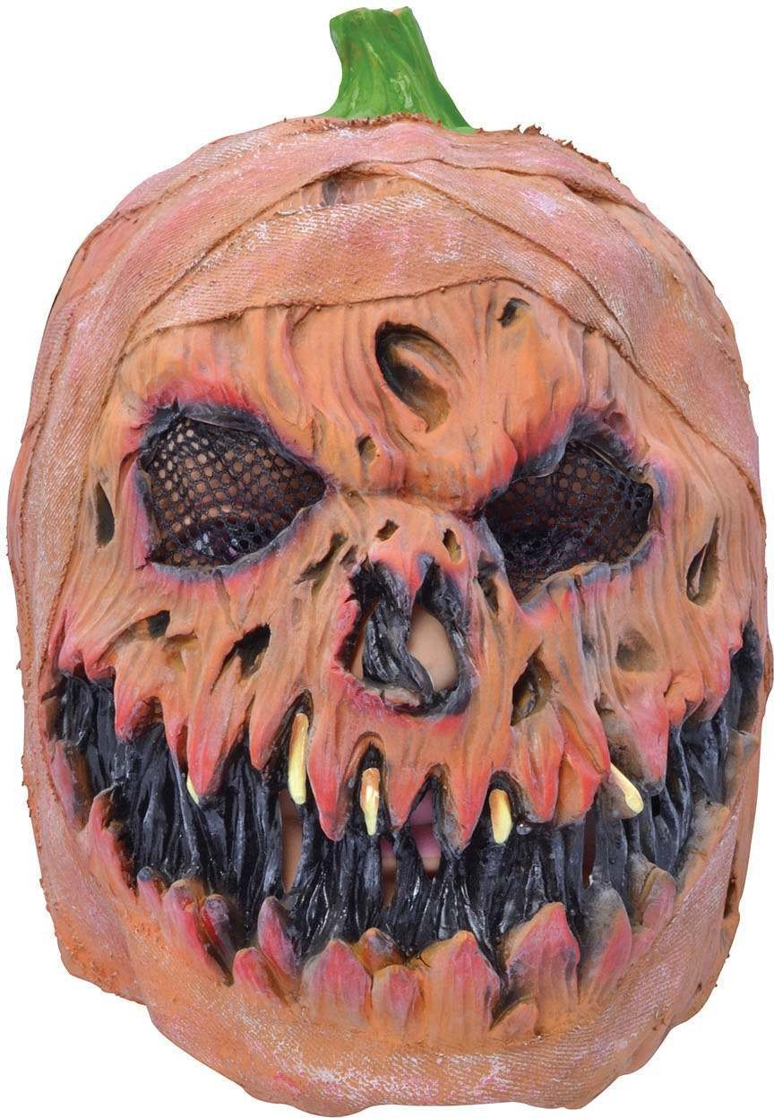 One Size Horror Pumpkin Mask Fancy Dress Accessory