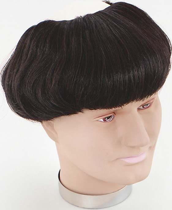 Monk Wig. Vinyl Head, Brown Hair (Fancy Dress Wigs)