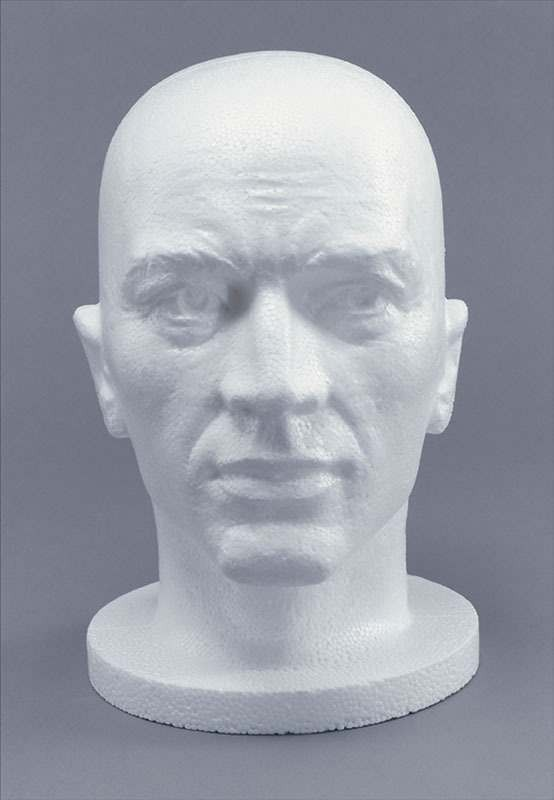 Polystyrene Head. Male Face (Fancy Dress)