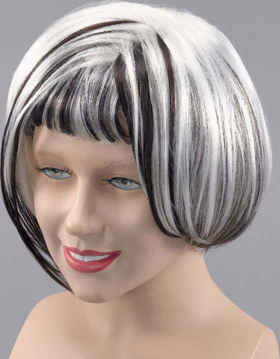 Miss 60'S Wig. White Dark Brown (1960S Fancy Dress Wigs)