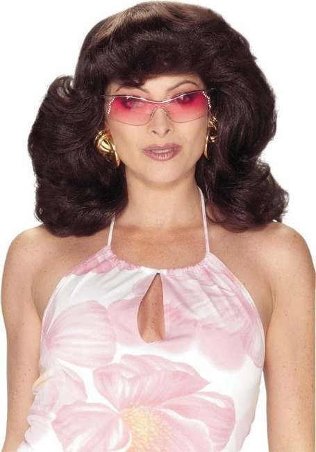 Angel Wig. 70'S Brown (Christmas Wigs)