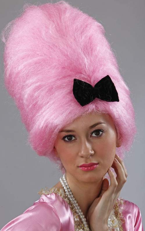 Pompadour Style Wig. Pink (Fancy Dress Wigs)