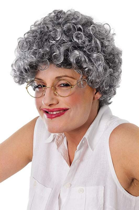 Old Lady. Curly Wigs