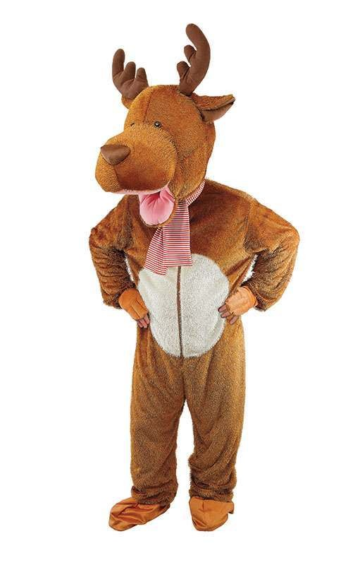 Kids Reindeer Big Head Christmas Outfit - Age 9-12