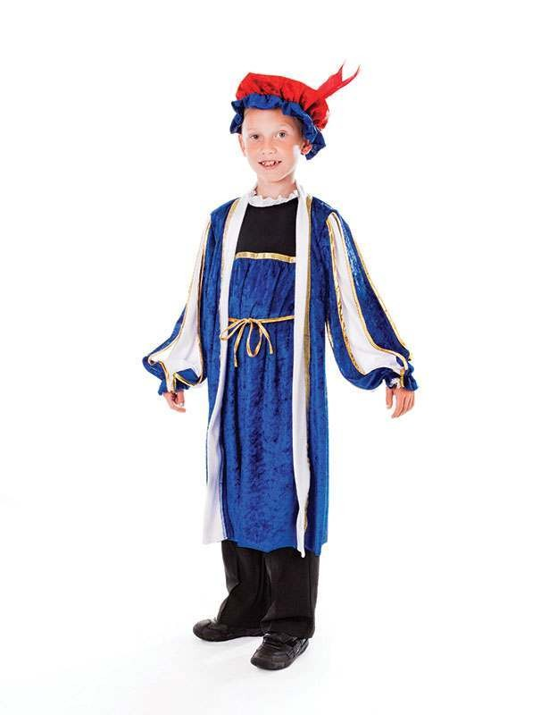 Boys Tudor Boy, With Hat (146Cm) Tudor Outfit - One Size (Blue)