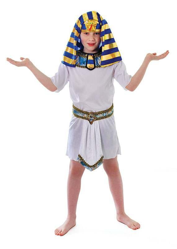 Boys Tunic. White Egyptian Outfit - One Size (White)