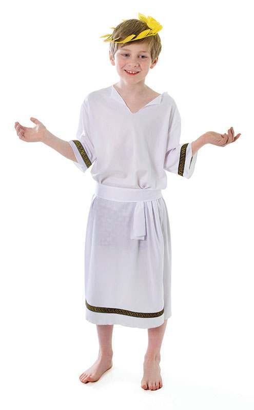 Boys Greek Boy Greek Outfit - (White)
