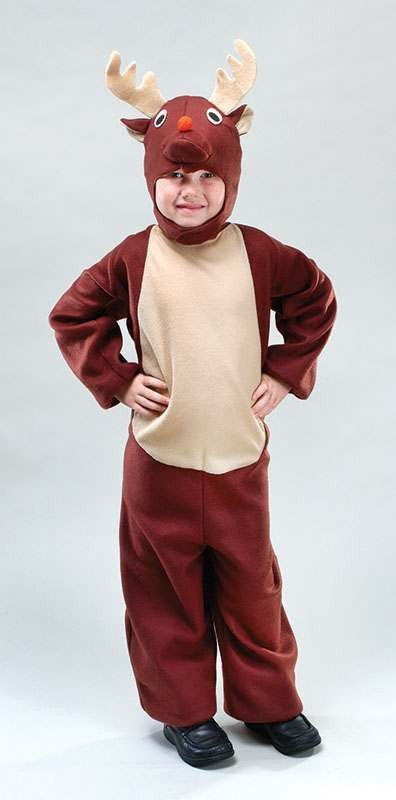 Toddler Reindeer Animal Outfit - Age 2-3 Yesrs (Brown)