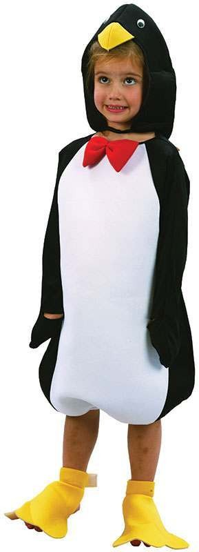 Toddler Penguin Animal Outfit - One Size (Black, White)