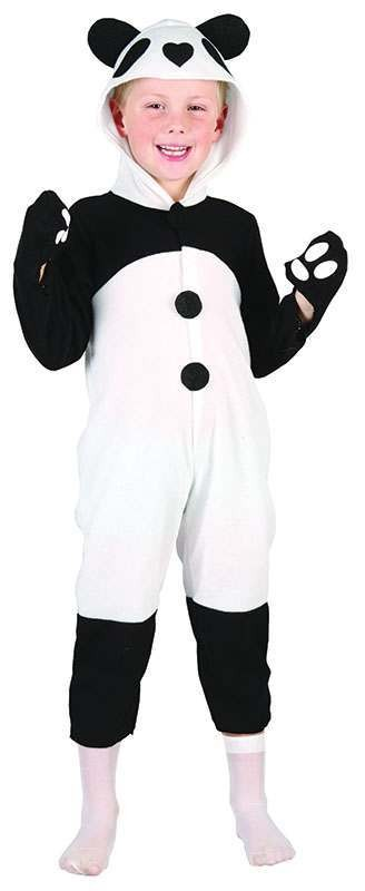 Toddler Panda Animal Outfit - One Size (Black, White)