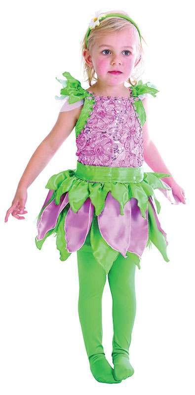 Toddler Forest Fairy Fairy Tales Outfit - One Size (Purple, Green)