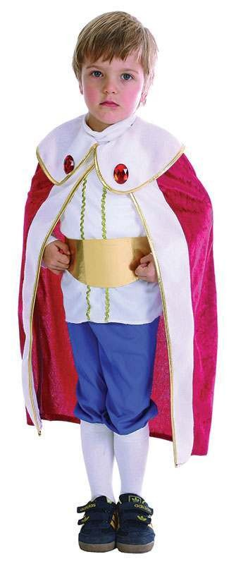 Toddler King Royal Outfit - One Size (Red, White, Blue)