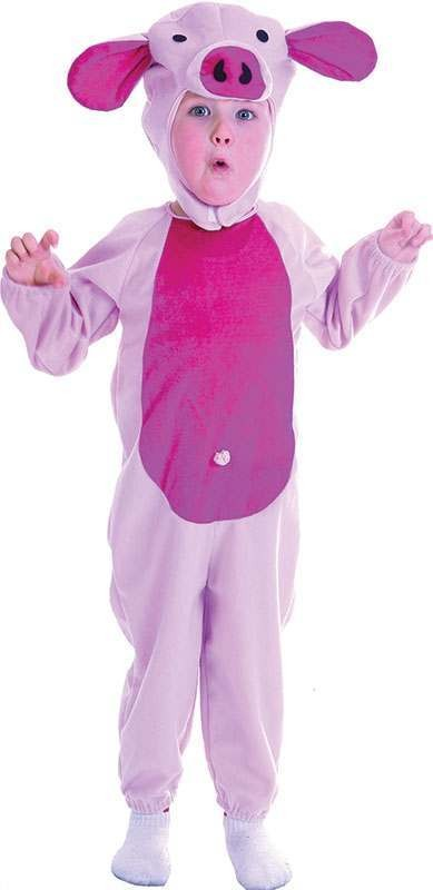 Toddler Pink Piggy Animal Outfit - One Size (Pink)