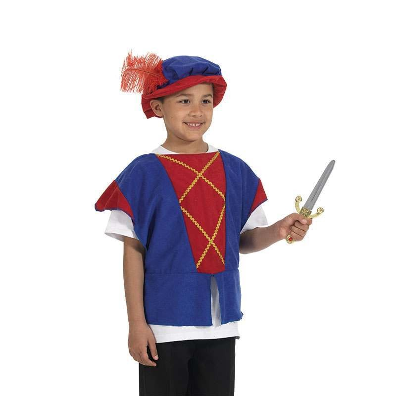 Tudor Tabbard. Red/Blue (Fancy Dress)