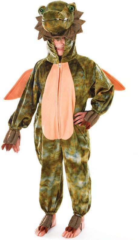 Boys Dragon Jumpsuit Animal Outfit - (Green)