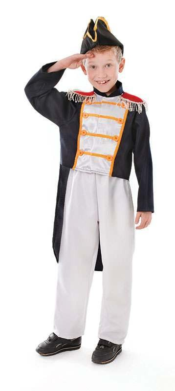Boys Colonial Boy Sailor Outfit - (Blue, White)